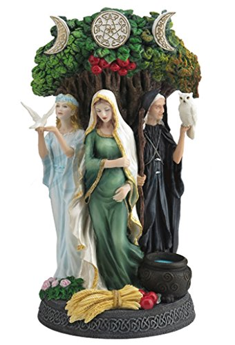 10.5' Celtic Triple Goddess Maiden Mother and The Crone Statue Sculpture Wiccan