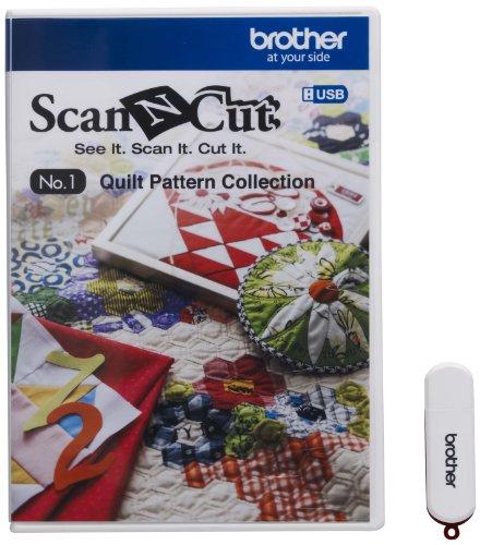 Brother CAUSB1 Scan-N-Cut No-1 Quiltmuster Sammlung weiß