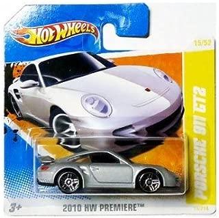 Porsche 2010 Hot Wheels (Silver) 911 GT2 #15/214, HW Premiere #15/52 (Short Card)