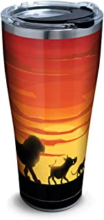 Tervis 1323273 Disney - Lion King Silhouette Stainless Steel Insulated Tumbler with Lid, 30 oz, Silver