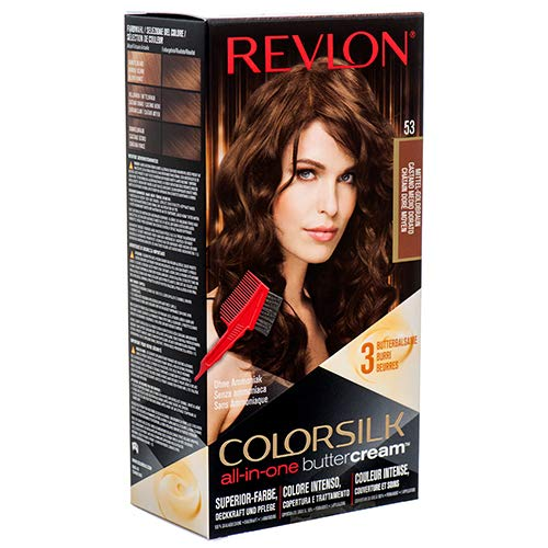 Revlon Color Silk all-in-one Butter Cream 53 Mittel-Goldbraun, Ammoniakfrei (3er Pack)