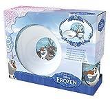 Frozen Olaf & Sven - Juego de 3 piezas de porcelana para desayuno, platos, vasos, cuenco de cereales en una práctica caja de regalo
