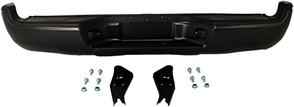 Rear Step Bumper Compatible with Toyota Tacoma 2005-2015 Assembly Powdercoated Black Steel Fleetside