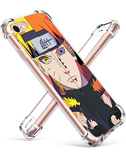 Allsky Case for iPhone 6/6s Plus 5.5', Clear Cartoon Design Pattern Soft Cute Fun Fashion Ultra-Thin Cover, Kawaii Kids Girls Teens Skin Creative Shockproof Funny Cases for iPhone 6/6s Plus Orange Boy