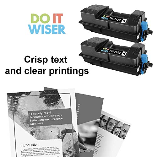 Do it Wiser Compatible Toner Cartridge Replacement for Kyocera TK-3122 Kyocera Ecosys FS-4200DN M3550idn 1T02L10US0 (Black, 2-Pack) Photo #6