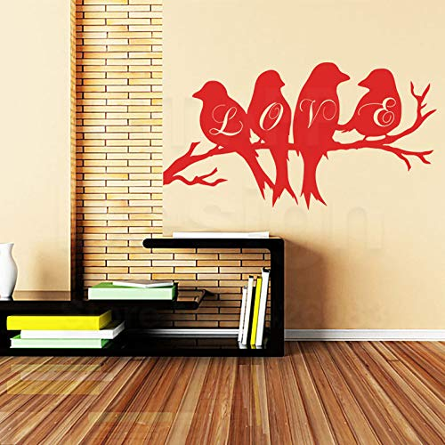 ganlanshu Kunst Haus Dekoration Vinyl Liebe Schwalbe Wandaufkleber abnehmbare Hauptdekoration Tier Vogel Aufkleber 58 cm x 31 cm