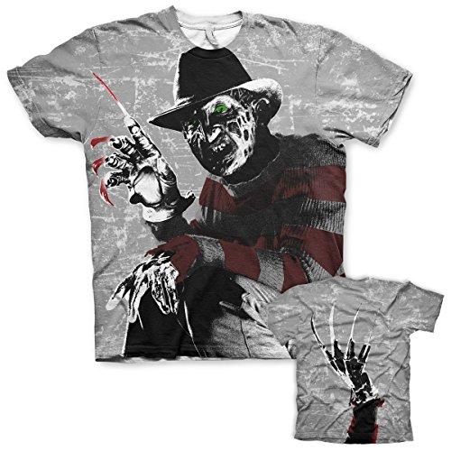 Offizielles Lizenzprodukt Freddy Kruger Allover T-Shirt (Mehrfarbig), Medium