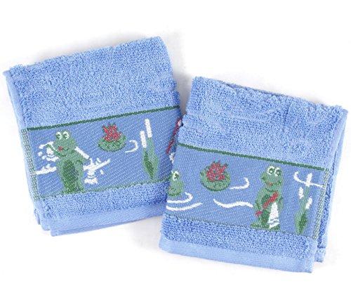 BigKitchen Rana de Color azul algodón Toallitas 12x 12, juego de 2