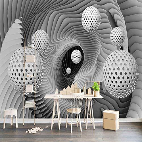 Benutzerdefinierte 3D-Wandbild Tapete Moderne abstrakte Sphäre Raum Whirlpool Kunst Wandmalerei Wohnzimmer TV Hintergrund Tapeten 300cm × 210cm