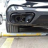 2 Pcs De AceroInoxidable Coche De Escape Cubierta De, Para BMW X5 G05 2019-2021;X6 G06 2020-2021;X7 G07 2019-2021 Cola Accesorios De Ajuste Adecuado Trasero