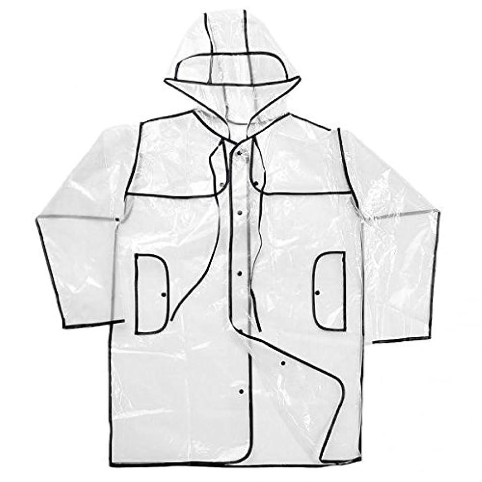 切り下げ防止地球SONONIA  2pcs 女性 透明 クリア レインコート キャンプ付き レインウェア レインカバー 雨衣 ポンチョ 雨具 耐久性 ブラック