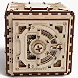 Ugears Mechanical 3D Safe, Valentine's Gifts, Adult Puzzle, Wooden Brain Teaser, Kids And Teens IQ Game