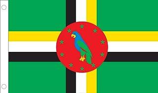Allied Flag Outdoor Nylon Dominica United Nation Flag, 5-Feet by 8-Feet