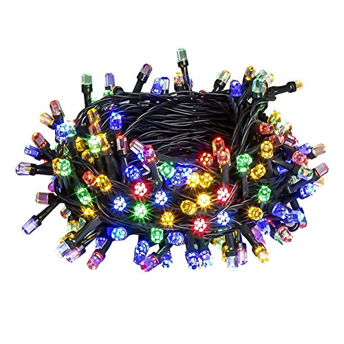 PABIPABI Christmas Outdoor String Lights 82ft 200 LED 9 Modes UL Safe Certified Weatherproof for Christmas Trees, Halloween, Garden, Patio, Wedding, Parties Decor(Multicolor)