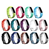 ZSZCXD Newest Replacement Wristband with Watch Buckle Design for Fitbit Alta HR and Alta (No Tracker) (14Pcs Buckle Bands)