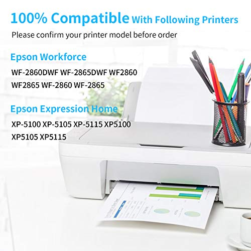 Zambrero 502 XL Reemplazo para Epson 502XL Cartuchos de Tinta Compatiable con Epson WF-2860DWF WF-2860 WF2860 WF-2865 WF2865 WF-2865DWF, Epson XP5100 XP-5100 XP-5105 XP5105 XP-5115 (2 Negro)