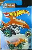 Hot Wheels, 2016 Street Beasts, Shark Bite 208/250, Orange