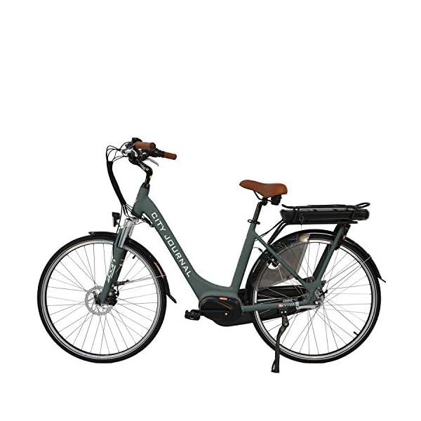 """519drdxZbPL. SS600  - AsVIVA E-Bike Damen Hollandrad 28"""", Tiefeinsteiger (13Ah Akku), 7 Gang Shimano Schaltung, Mittelmotor, Scheibenbremsen, grau"""