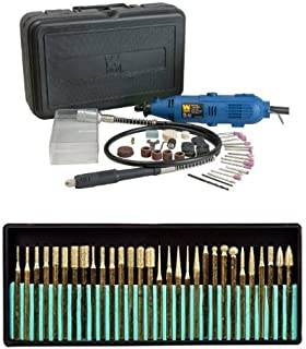WEN 2305 Rotary Tool Kit with Flex Shaft with SE 82331TF 30-Piece Set of Titanium-Coated Diamond Burrs, Grits 120-150