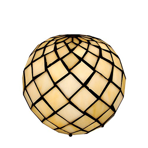 World Art TW60557 Lampes Style Tiffany, Multicolore, 17x17x17 Cm