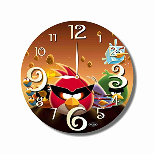 MAGIC WALL CLOCK FOR DISNEY FANS The Angry Birds 11'' Handmade made of acrylic glass - Get unique décor for home or office – Best gift ideas for kids, friends, parents and your soul mates