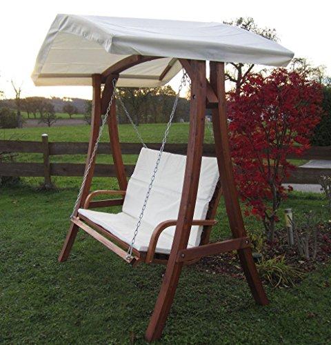ASS Design Hollywoodschaukel Gartenschaukel Schaukelbank KUREDO mit Dach aus Holz Lärche - 5