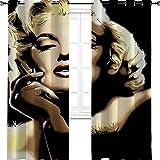 Baby Spielzeug Marilyn Monroe American Beauty - Cortinas opacas con ojales térmicos para habitación (80 x 183 cm)