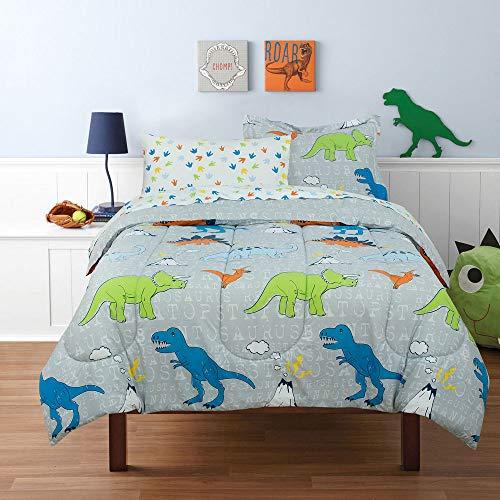 Kidz Mix Dinosaur Volcano Walk Bed in a Bag Twin Grey
