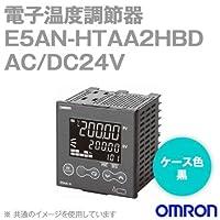 オムロン(OMRON) E5AN-HTAA2HBD 電子温度調節器 プログラムタイプ 端子台タイプ 単相ヒータ用 AC/DC24V ブラック (出力ユニット方式) NN