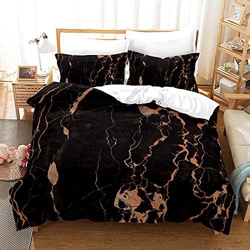 Bedclothes-Blanket Funda nórdica 3D Lila,Capado a Mano 3D Estéreo de impresión Digital de Color de mármol Conjunto Conjunto de Tres Piezas-6_210 * 210cm