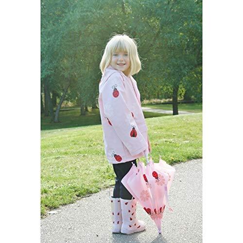 Foxfire Casaco de chuva para bebês meninas Pink Lady Bug 1T