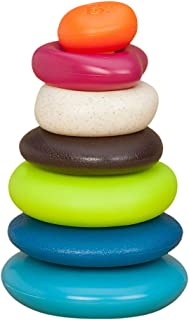 B.Toys 比乐 水漂石叠塔杯 益智堆环 彩虹色叠叠乐 多功能啃咬磨牙玩具  婴幼儿童益智玩具 礼物 7个月+ BX1372Z