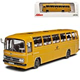 Mercedes-Benz O302 Deutsche Bundes Post Bus Gelb H0 1/87 Schuco Modell Auto