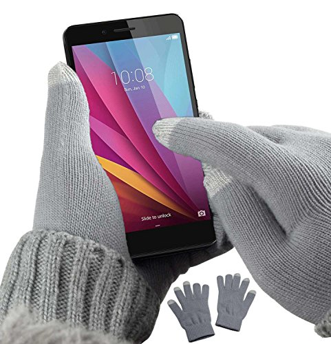 yayago Touchscreen Handschuhe kapazitiv Universalgröße (ca. M – L) – für Motorola Moto G6 / Moto G6 Plus / G6 Play/Moto E5 / E5 Plus