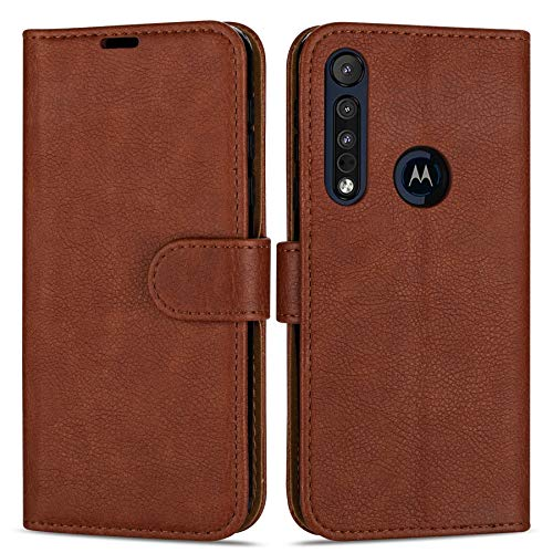 Case Collection Hochwertige Leder hülle für Motorola Moto G8 Plus Hülle (6,3