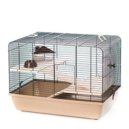 Ollesch - Cage à rongeurs - 59 x 38 x 43 cm - avec accessoires