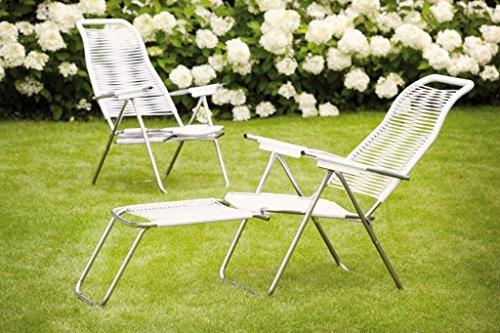 Fiam Jan Kurtz Spaghetti chair weiss 492526 FIAM sonnenliege mit integriertem Fussteil Sauna RELAX sunbed fiam Liegestuhl