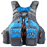 Roeam Fly Fishing Jacket,Outdoor Breathable Fishing 209lb Buoyancy Vest for Kayaking Sailing Boating Water Sports
