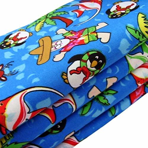 Handmade Tropical Kitschmas Napkins (Set of 4-100% Cotton) ME2 Designs Christmas Table Décor (Tropical Kitschmas)