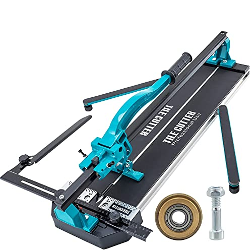 VEVR Máquina de Cortar Azulejos 600mm Cortadora de Azulejos 35-600 mm Cortador de Azulejos Manual Cortadora de Cerámica con Soporte Máquina para Cortar Azulejos con Láser cortador de baldosas