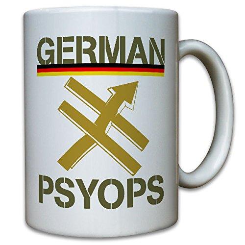 German Psyops Bundeswehr PSV operationele informatie troep wapen badge andervolgens deernat inzetcamera Duitsland communicatie soldaat mok koffie beker #10633