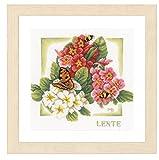 Unbekannt Lanarte–Set Primavera Contador plástico Cruz, algodón, Multicolor, 25x 25x 0.3cm