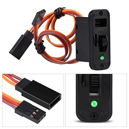 Conectores de interruptor RC Interruptor RC de servicio pesado de 1 pieza con pantalla LED JR Accesorios de conectores de encendido y apagado RC para accesorios de receptor RC ( Color : 3 PCS )