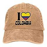 Yaxinduobao Sombrero para el Sol de la Gorra de béisbol del camión I Love Colombia Unisex Classic Vintage Washed Denim Hat Adjustable Dad Baseball CapUnisex Classic Baseball Cap Dad Hats