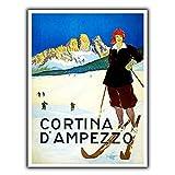 Cortina D'ampezzo Póster de Pared Metal Creativo Placa Decorativa Cartel de Chapa Placas Vintage Decoración Pared Arte Muestra para Bar Club Café