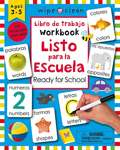 Wipe Clean: Bilingual Workbook Ready for School (Wipe Clean Activity Books) (Spanish Edition)