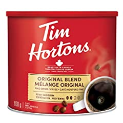 930g can of Tim Hortons Original Fine Grind coffee Perfectly balanced, medium-bodied coffee with a smooth finish For use in automatic filter coffee makers Expertly roasted 100% premium Arabica beans Imported from Canada