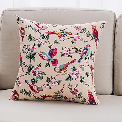 Fundas de Cojín Lona de algodón Planta Tropical sofá Funda de cojín hogar la Oficina Flor Decorativa Funda de Almohada Sofá Cama Silla Coche Decorativa Almohada Fundas