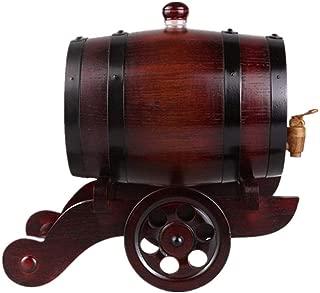 Brandy Bourbon Vino Birra Salsa Piccante e Altro A 1.5L Woode Botte Dispenser di Vino Legno Fusto di Rovere da Fodera di Alluminio incorporata per conservare Il Proprio Whisky