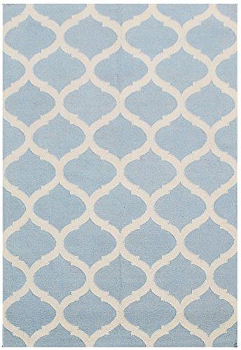 Bakero Teppiche Julia, Wolle, Hellblau, 240 x 155 x 0.8 cm